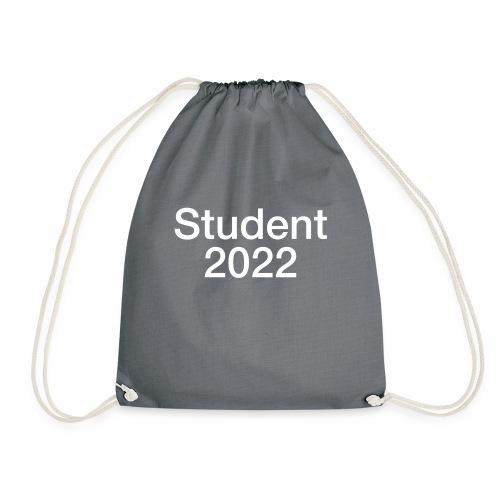 Student 2022, hvidt tryk - Sportstaske
