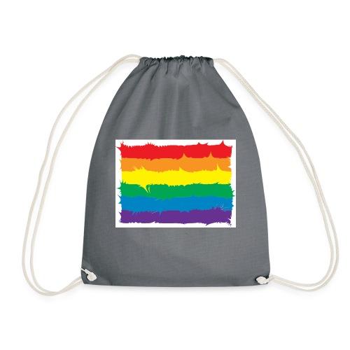 Spikey Rainbow - Drawstring Bag