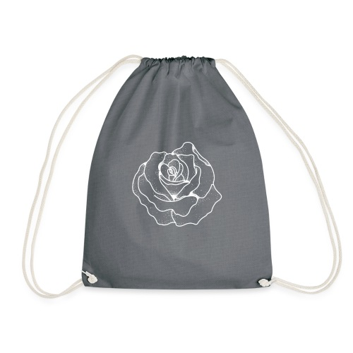 Female Exclusive Rose Dot White V-Neck T-Shirt - Drawstring Bag