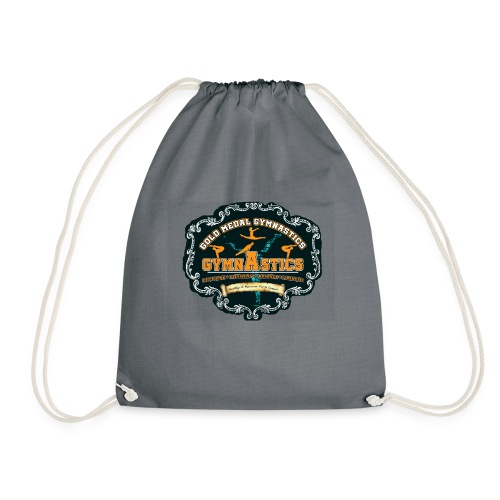 i love gymnastics - Drawstring Bag
