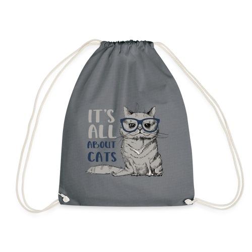 Coole Katze: It's All About Cats - Turnbeutel
