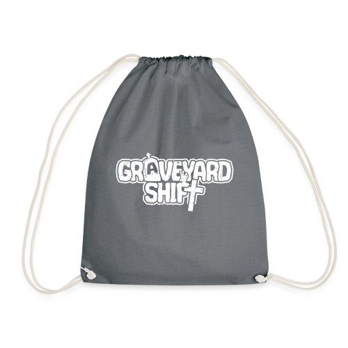 graveyard white - Drawstring Bag
