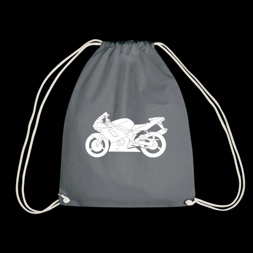 Four Wheels Moves The Body, Two Wheels Moves The S - Drawstring Bag
