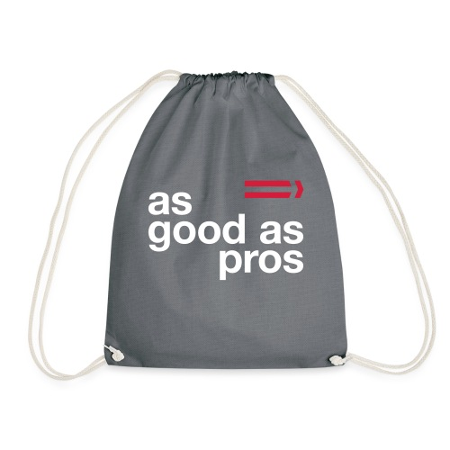 As Good As Pros Red and White - Drawstring Bag