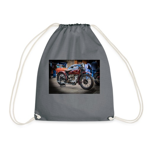 the motorbike davidon style - Drawstring Bag