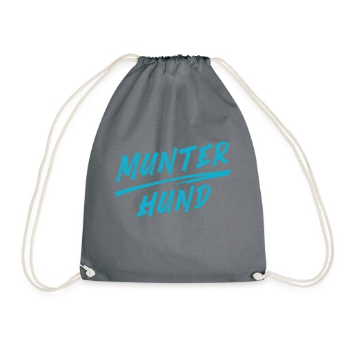 Munter Hund Logo Blue - Turnbeutel