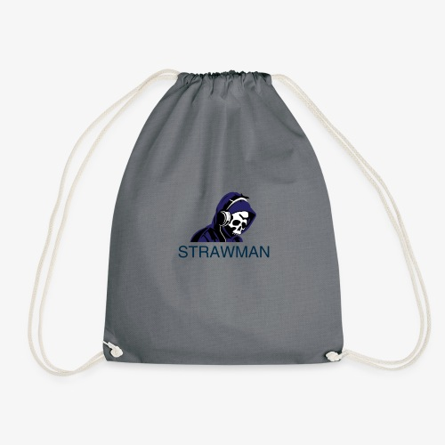 strawman logo - Drawstring Bag