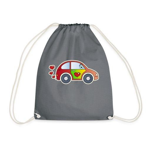 Kids Car Spielzeugauto Herzen bunt fröhlich Kinder - Drawstring Bag