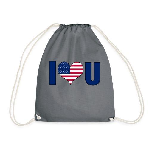 I love u USA - Drawstring Bag