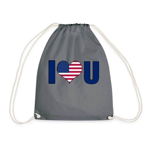 I love u USA - Drawstring Bag