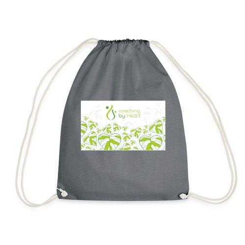 logo hvit og grønn coaching by heart - Gymbag