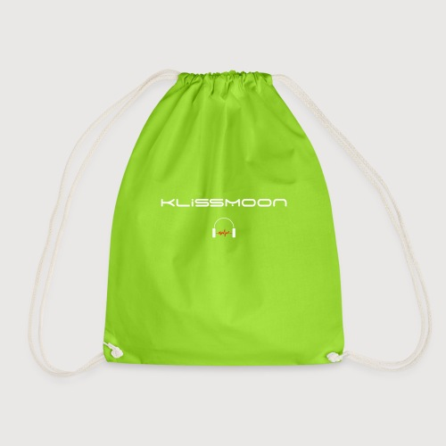 Klissmoon Logo white - Drawstring Bag