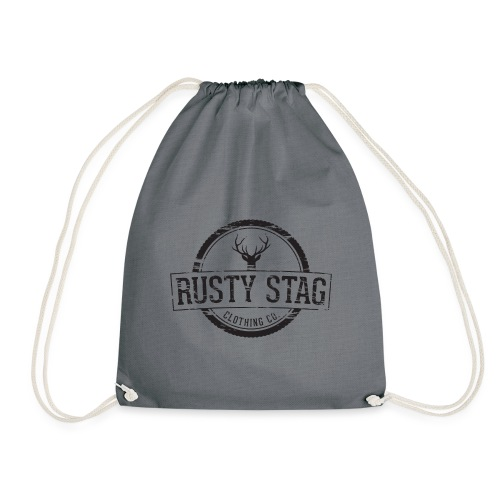 Rusty Stag Weathered Crest - Drawstring Bag
