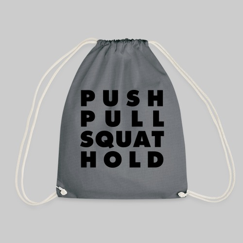Push Pull Squat Hold - Turnbeutel