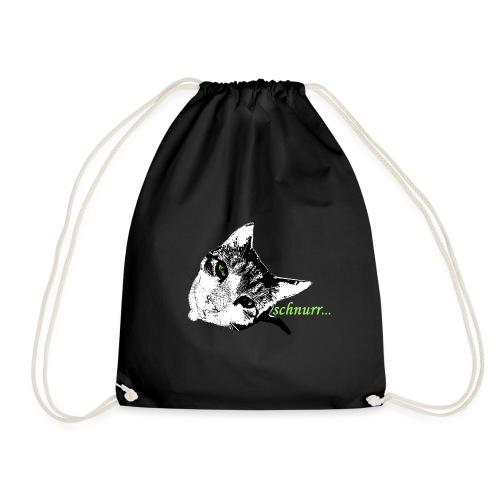 Katze schnurr - Turnbeutel