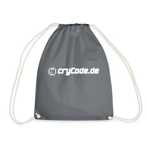cryCode weiß - Turnbeutel