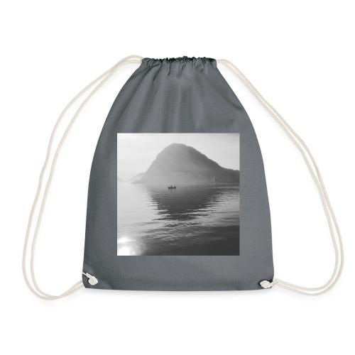 quiet lake - Drawstring Bag