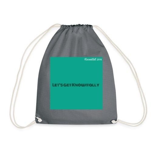 Let's get Knowitally Custom Standards - Drawstring Bag