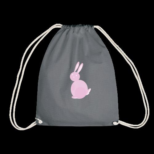 Pink Bunny - Drawstring Bag