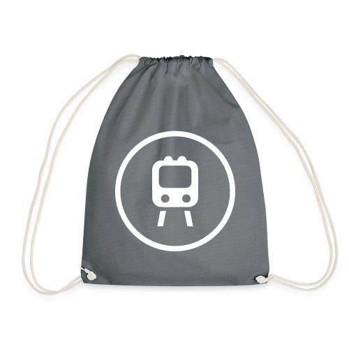 TRAINS 3 - Drawstring Bag