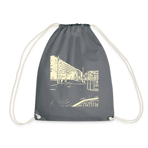 helsinki railway station pattern trasparent beige - Drawstring Bag