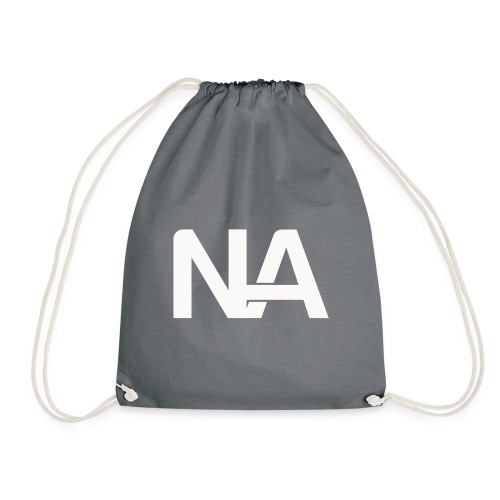 NA Logo white - Drawstring Bag