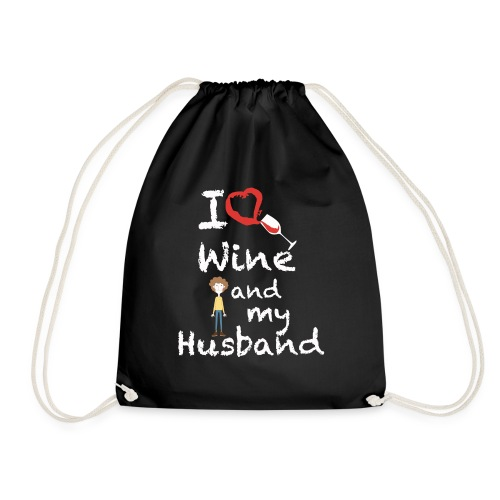 I love Red wine & my Husband Couples Pairs Wedding - Sacca sportiva
