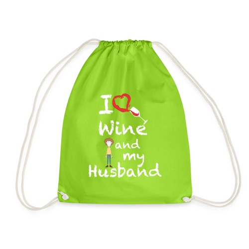 I love Red wine & my Husband Couples Pairs Wedding - Sacca sportiva