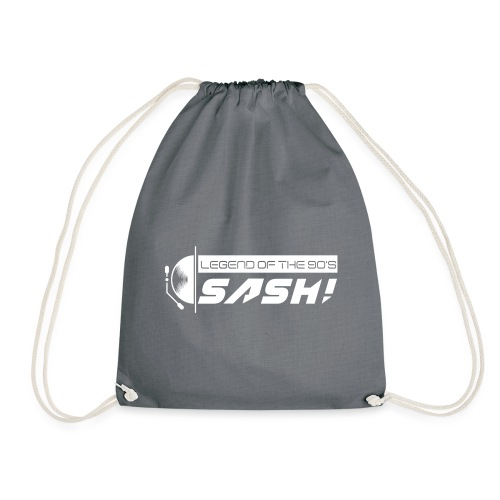 DJ SASH! Turntable Logo - Drawstring Bag