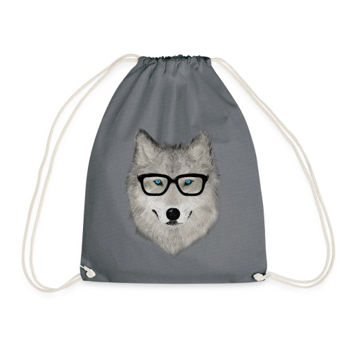 wild animal with glasses V02 - Mochila saco