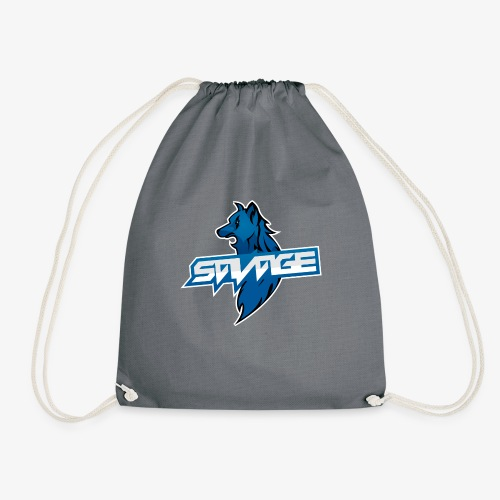 Blue Logo Savage Wolf - Drawstring Bag