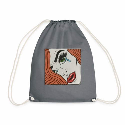 POP Art Lady-close up - Drawstring Bag