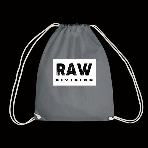 Raw DIvision BLACK LOGO - Drawstring Bag
