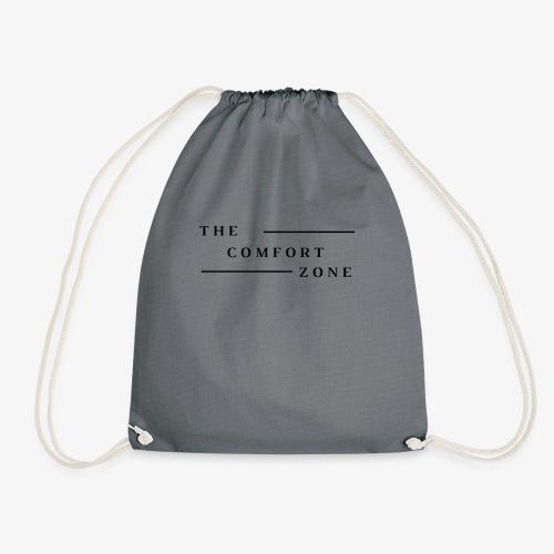 Logo zwart The Comfort Zone - Gymtas