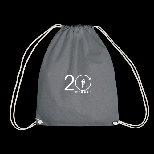 LOGO 20minuti white - Sacca sportiva