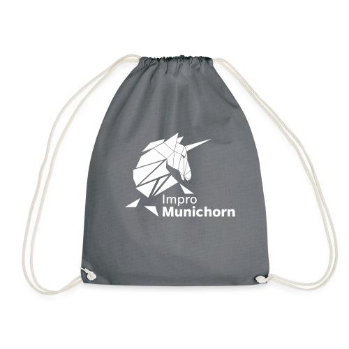 ImproMunichorn Logo bw - Turnbeutel