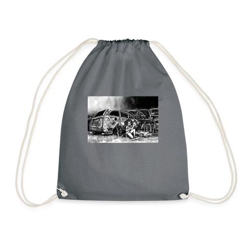 Scarlett Bush hiding from Zombies in Virginia - Drawstring Bag