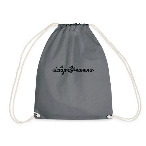 Sicilymonamour TM black - Sacca sportiva