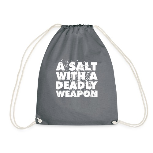 A Salt with a Deadly Weapon White - Drawstring Bag