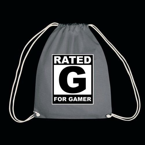 RATED G FOR GAMER - Drawstring Bag