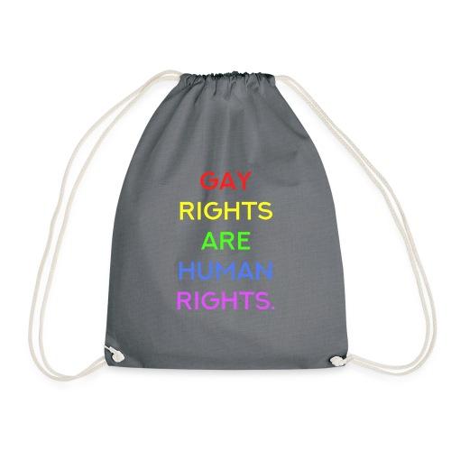 Gay Rights Are Human Rights CSD T-Shirt - Drawstring Bag