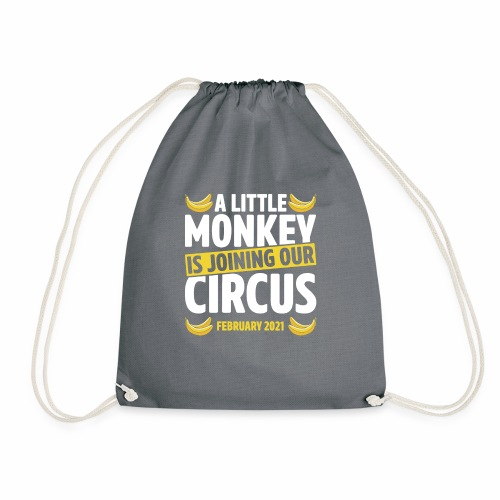 A Little Monkey Is Joining Our Circus February Pun - Drawstring Bag
