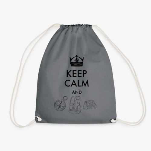 keepcalmandexplore - Drawstring Bag