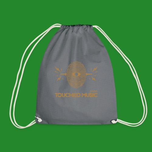 Touched Logo Orange and Navy - Drawstring Bag