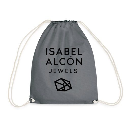 ISABEL ALCÓN JEWELS - BLACK SQUARE LOGO - Mochila saco