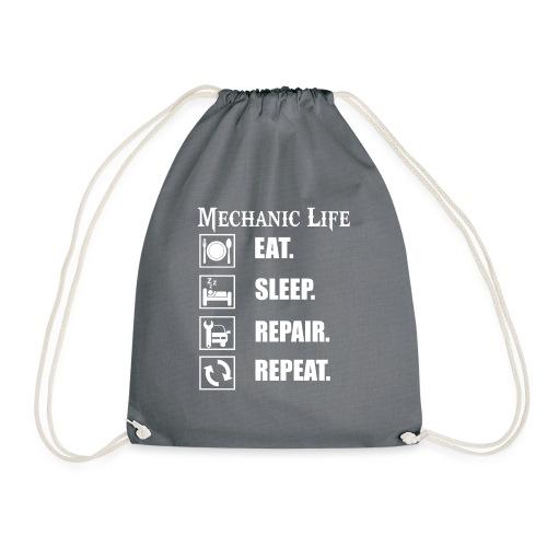 Das Leben als Mechaniker ist hart! Witziges Design - Turnbeutel