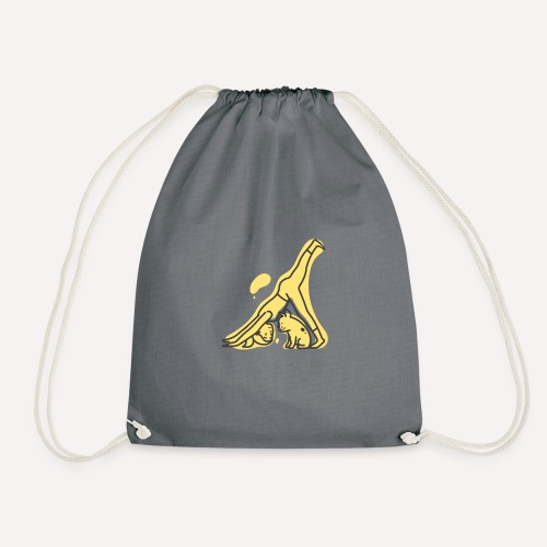 Yoga Pose Downward Facing Dog T-shirt Print - Drawstring Bag
