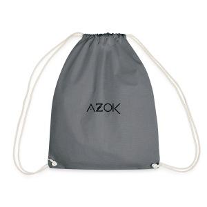 Azok-Esport logo svart - Drawstring Bag