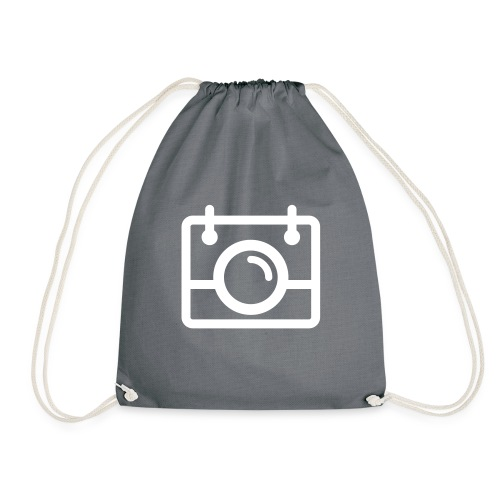 White AYWMC Camera logo - Drawstring Bag