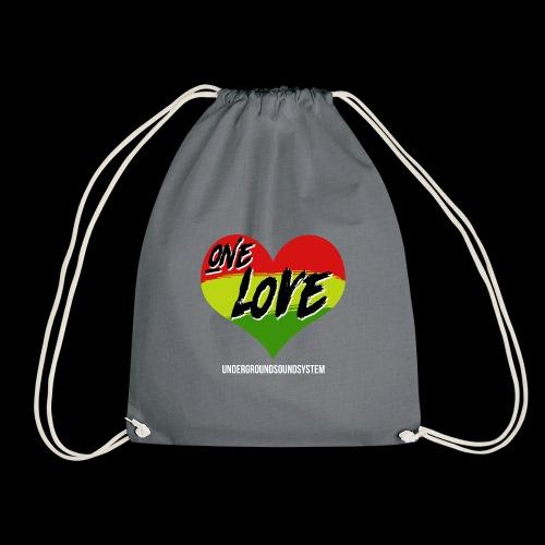 ONE LOVE - HEART - Turnbeutel